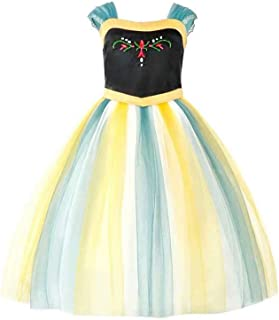 SZ-TONDA Girls Anna Princess Costume - Frozen Snow Queen Halloween Party Dress Up Cosplay for Kids Baby Toddler Little Child