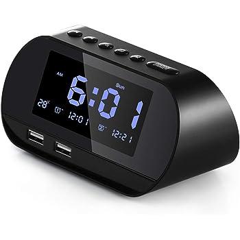 Aitsite Radio Despertador, FM Digital Radio Reloj Despertadores ...