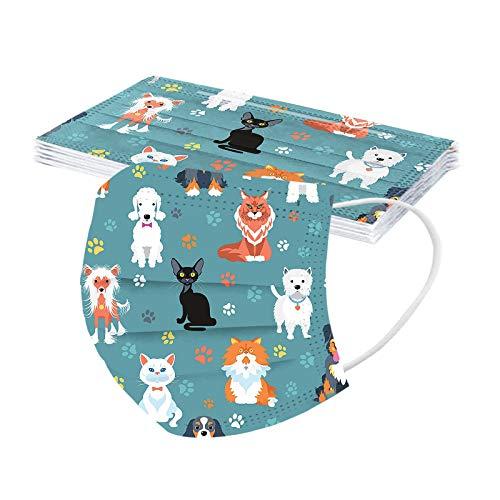 UOWEG 10 Stück Bandana Motiv Gedruckte Schlauchtuch Staubdicht 3-lagig Bedeckung Multifunktionstuch Halstuch für Damen und Herren