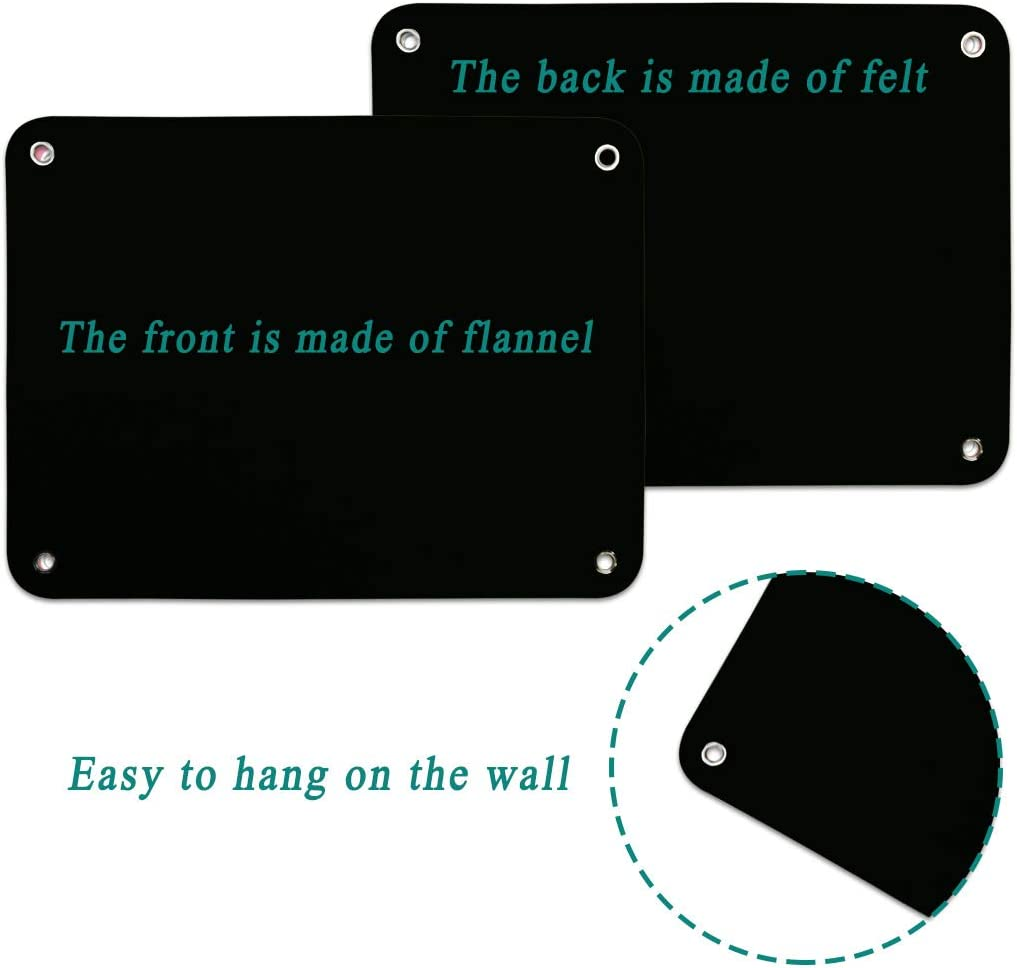 Black Flannel-Board for Toddlers Preschool as Kids Felt Stories Activities Play Kits Wall-Hanging Birthday Gifts