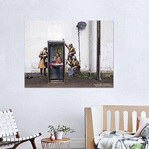 Kein Rahmen y Graffit Ironie Monitor Menschen Poster und Drucke Wandbilder für Wohnzimmer Wandkunst Dekoration Leinwand Malerei