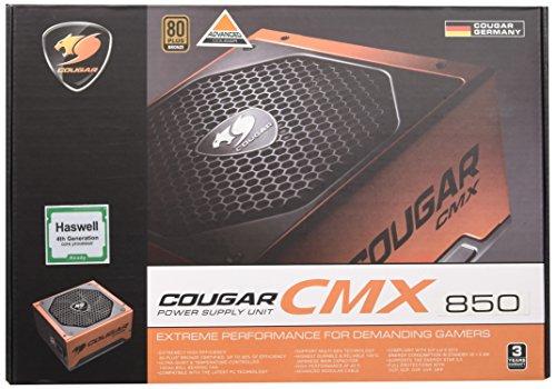 Cougar CMX ATX PFC Attivo, Alimentatore 850W 80+ Bronze, Nero/Arancione