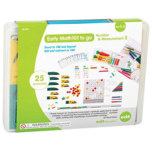 EDX Education Early Math101 to go – Alter 5–6 Jahre – Anzahl und Messung – im Heimlern-Set für Kinder – Mathematik-Ressourcen für Zuhause mit über 25 geführten Aktivitäten