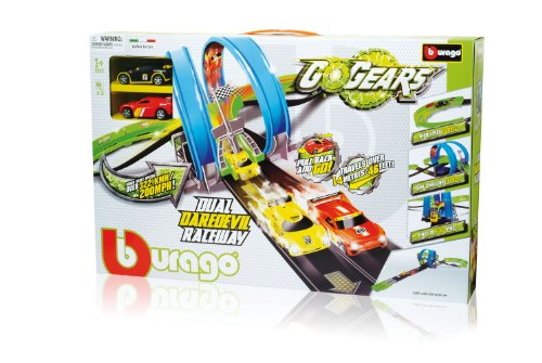 Bburago - 30262 - Radio Commande, Véhicule Miniature et Circuit - Gogears Dual Daredevil Raceway