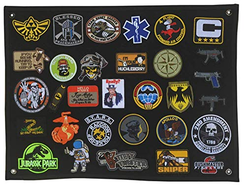 Antrix 25x18' Tactical Badge Emblem Patch Panel Patch Display Board Patch Holder Wall Patch Display Poster Frame Military Hook and Loop Backing Patches Board Panel
