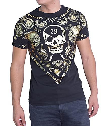 Philipp Plein HM341065 - Camiseta para hombre, color negro, Negro , S