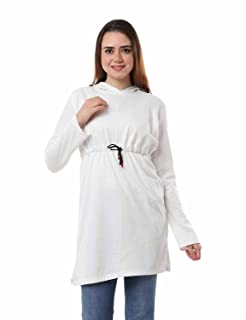 Andora Drawstring Waist Longline Hoodie for Women