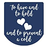 Hand Sanitizer Labels Thank You Wedding Stickers Set of 90 (Navy)
