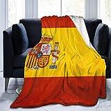 KENDIA Spanien Flagge Kunst Dekorative Extra Weiche Decke Leichte Shaggy Decke Mikrofaser Decke, 50 * 40 Zoll