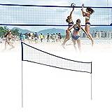 MondayUp Red de Tenis Ajustable para Voleibol, bádminton, Voleibol portátil,...