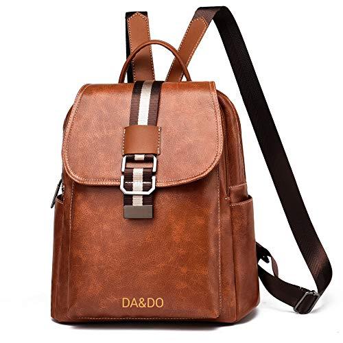 DA&DO Damen Rucksack Klein Handtasche Casual Daypack (Braun)