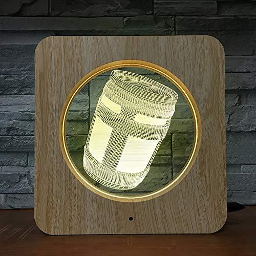 Luces de latas de Asalto plástico Decorativo Caliente luz de Noche pequeña lámpara de Mesa Personalizada Regalo de Color para niños decoración del hogar