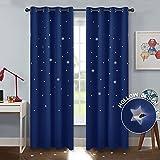 PONY DANCE Cortinas Estrellas Azules Dormitorio Infantil