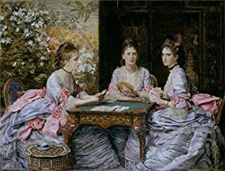 The High Quality Polyster Canvas Of Oil Painting 'John Everett Millais - Hearts Are Trumps,1872' ,size: 16x21 Inch / 41x54 Cm ,this Reproductions Art Decorative Canvas Prints Is Fit For Game Room Decoration And Home Decoration And Gifts