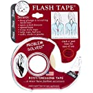 Braza Flash Tape - 1, 2, 3, 4 and 6 Rolls -Double Sided Medical Grade Clear Clothing and Body Adhesive Tape - Made in U.S.A.