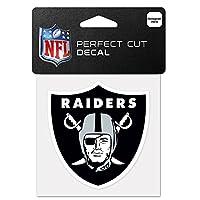 "NFL Oakland Raiders 63061011 Perfect Cut Color Decal, 4"" x 4"", Black"