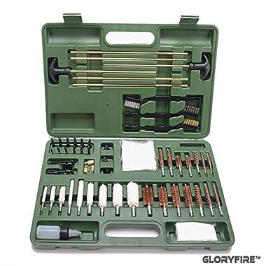 GLORYFIRE Universal Gun Cleaning Kit Hunting Rilfe Handgun Shot Gun Cleaning Kit for All Guns With Case Travel Size Portable Metal Brushes
