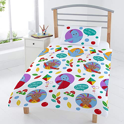 Coco Moon in The Night Garden Reversible Junior Bed Size Duvet Cover and Pillow Set for Kids Ideal Prime Gift