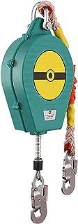 引き込み式ストラップ 落下防止、自動引き込み式ライフライン ケーブル - シングル レッグ、ダブル ブレーキ システム、スチール フック付き安全ハーネス ツール ランヤード、熱可塑性シェル + ワイヤー ロープ