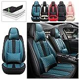 Delanteros Fundas Asiento Coche para Mazda 3 Mazda3 2004-2021 Lujo Fundas Juegos de Cubreasientos Compatible con 95% de Automóviles y Airbag Style B Negro Azul