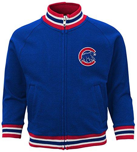 MLB Chicago Cubs Boys 4-7 Baseball Run Track Jacket-L (7), Deep Royal