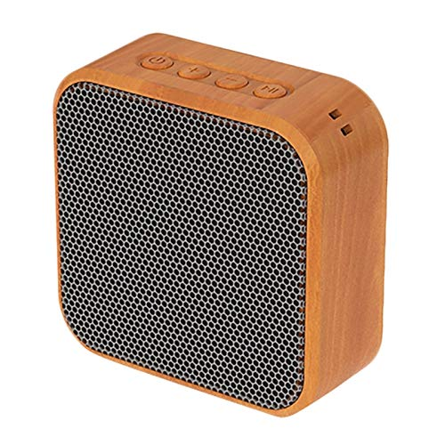 BLU-Ray A70 Mini Altavoz Portátil Bluetooth del Grano de Madera del Altavoz inalámbrico de la Vendimia con el Mic del Soporte del teléfono del TF Tarjeta de Radio FM for el móvil HD