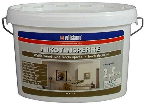 Nikotinsperre Isolierfarbe inkl. 4x 5m Abdeckfolie (Nikotinsperre 2,5 Liter)