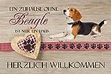 'Felpudo – Un Hogar sin Beagle es sólo un hogar–Felpudo (Estampado Felpudo Interior frigo Divertido diseño Felpudo (