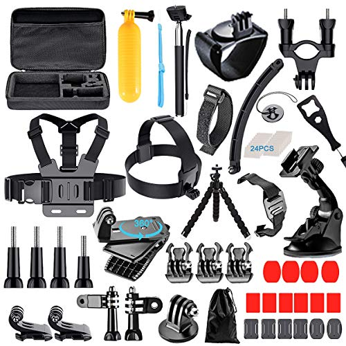 [68-in-1] Accessories Kit for GoPro HERO8 Black, GoPro MAX, Hero 8 7 6 5 4 3+, Session 5, Accessory Bundle Set for AKASO, APEMAN, DBPOWER, Campark, DJI OSMO, Lightdow, SJCAM, Sony, Yi Action Camera