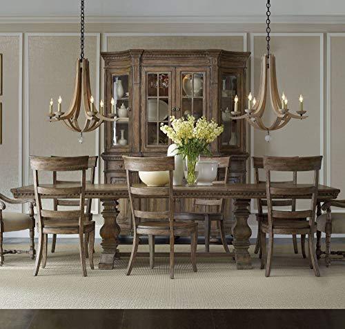Hooker Furniture Sorella Rectangular Dining Table with Leaves in Brown