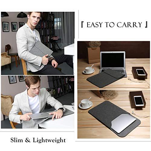HYZUO 13 Zoll Laptop Hülle Tasche Laptophülle Compatibel mit MacBook Air 13 M1 2018-2020/ MacBook Pro 13 M1 2016-2020/ iPad Pro 12,9 2020 2018/ Dell XPS 13/ Surface Pro X 7 6 5 4 ohne kleine Tasche