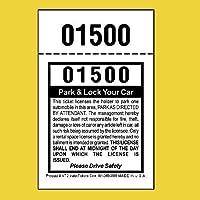 (2,000) 2パートバレットパーキングチケット パーク&ロック バレットスタブ 110ポンド カードストック ホワイト