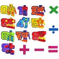 Mymiyou Número de Robots figura de acción regalo de juguete para los niños educación de la primera infancia 15 piezas