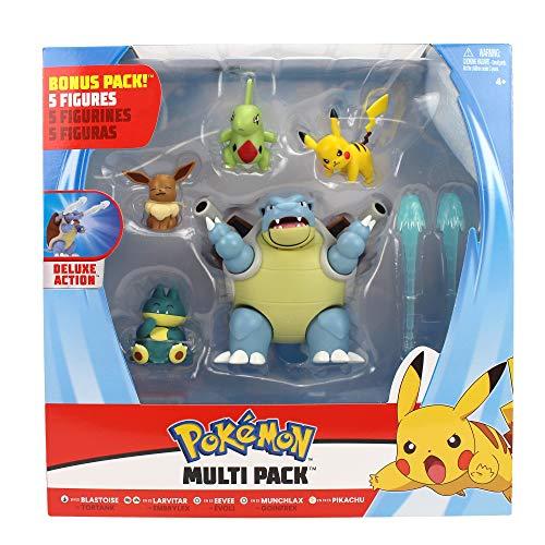 Bizak Pokemon Pack 5 figuras de combate, multicolor (63220246)