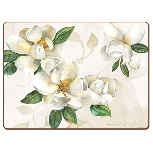 Cala Home Exklusiver 4er Platzset Magnolias - EIN Tischset von höchster Qualität für EIN Exklusives Zuhause oder als Geschenk