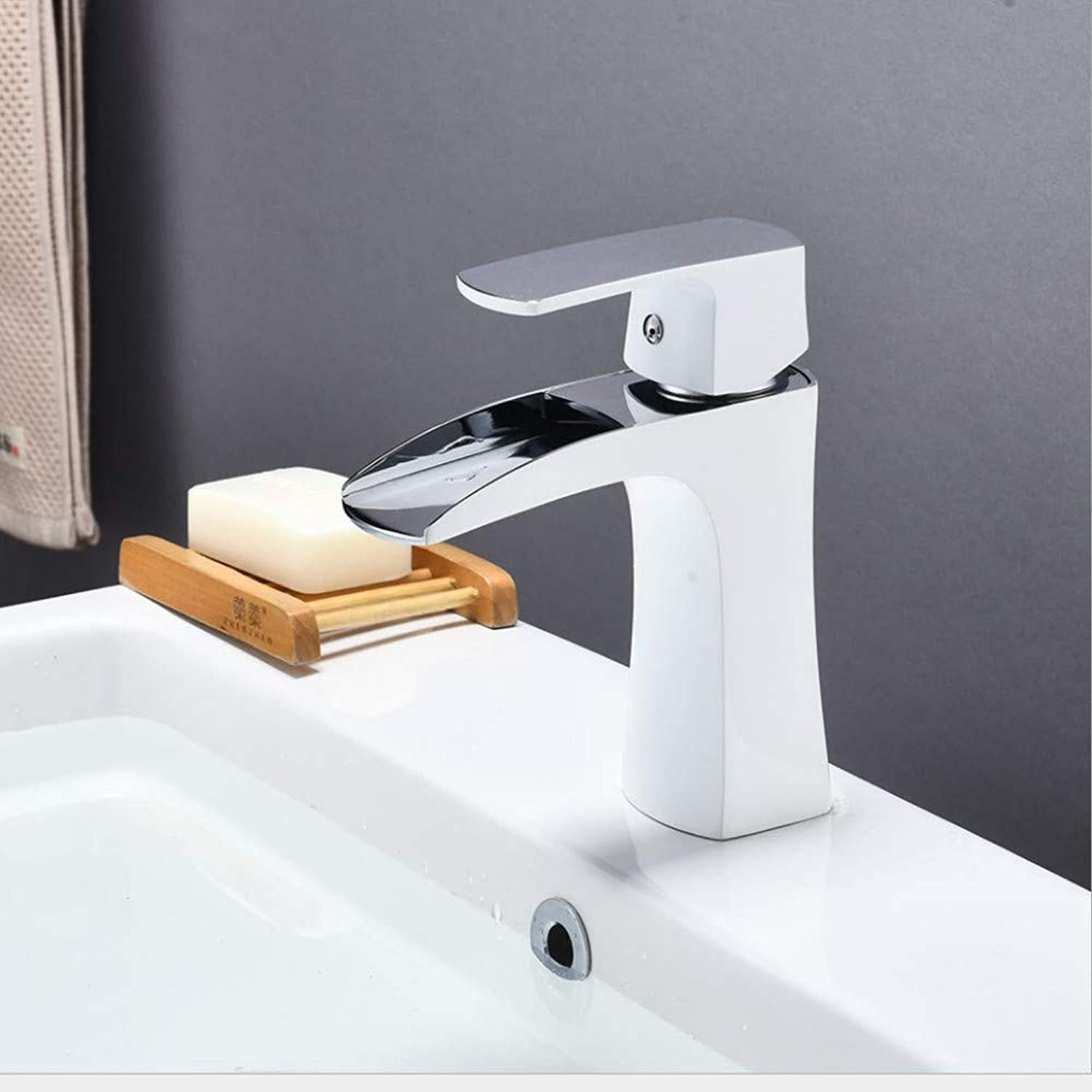 Faucet European Style Copper White Paint Basin Faucet high Basin Faucet Above Counter Basin wash Basin Faucet