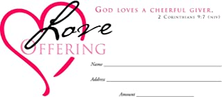 Offering Env-Love Offering (Heart) (Package of 100)