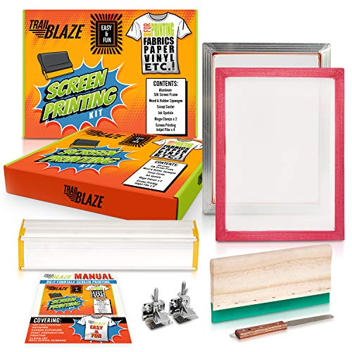 Professional Grade Silk Screen Printing Kit - Perfect for DIY T-Shirt Photo Emulsion Paper Fabric Printing | Screen Print Starter Kit Great Gift for all Levels