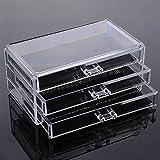Demarkt Mini Cajón Transparentes de Plástico para Brocha de maquillaje lápiz de cejas Pintalabios Clara Acrílico Cosméticos Organizador