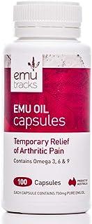 EMU Tracks 750mg Emu Oil 100 Capsules, 100 count