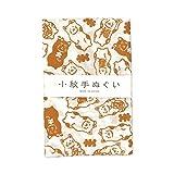日本製 手ぬぐい 小紋柄 (招き猫, ほつれない加工あり)
