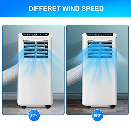 OZEANOS Climatizzatore Portatile,Condizionatore d'Aria 3-in 1: Raffreddamento, deumidificazione, Ventilazione 7000 BTU/h,2,05kW,R290,Ottimo per Ambienti di 35 mq,Bianco (7000 BTU) (9000 btu)