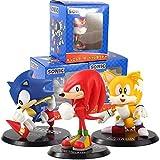 Yzoncd 3 Unids / Set Sonic Shadow Tails Anime Figura De Acción De Juguete 10-13Cm, PVC Generation Bo...