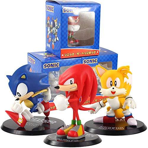 Yzoncd 3 Unids / Set Sonic Shadow Tails Anime Figura De Acción De Juguete 10-13Cm, PVC Generation Boom Modelo Muñeca para Niños Personajes Juguete De Regalo