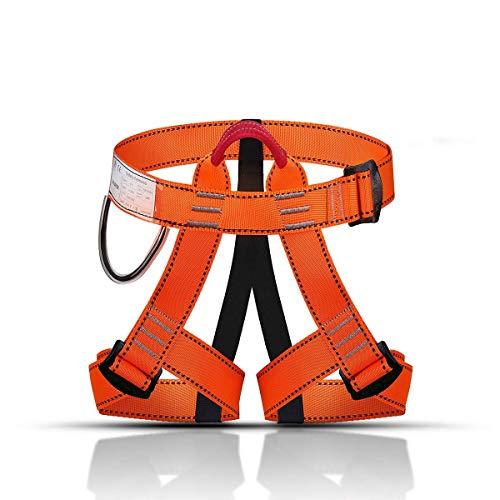 KINGUARD Arnés de Escalada Alpinismo Cuerda Equipo Escalada Ajustable Cinturón Seguro de Cadera de Cintura para Mujer y Hombre Escalada de Roca Alpinismo Rescate (Estilo Basico - Negro)