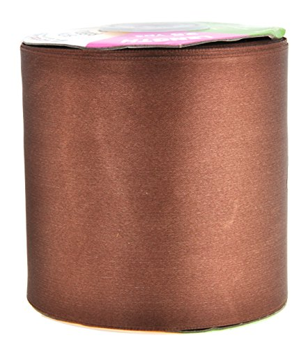 Brown Satin Ribbon 3 Inch 25 Yard Roll for Gift Wrapping, Weddings, Hair, Dresses, Blanket Edging, Crafts, Bows, Ornaments; by Mandala Crafts