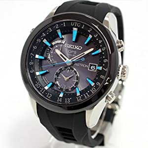 SEIKO ASTRON Reinforced waterproof everyday life ? blue dial sapphire glass super clear coating black stainless steel reinforced silicon band radio-corrected GPS satellite solar watch (Japan inport)