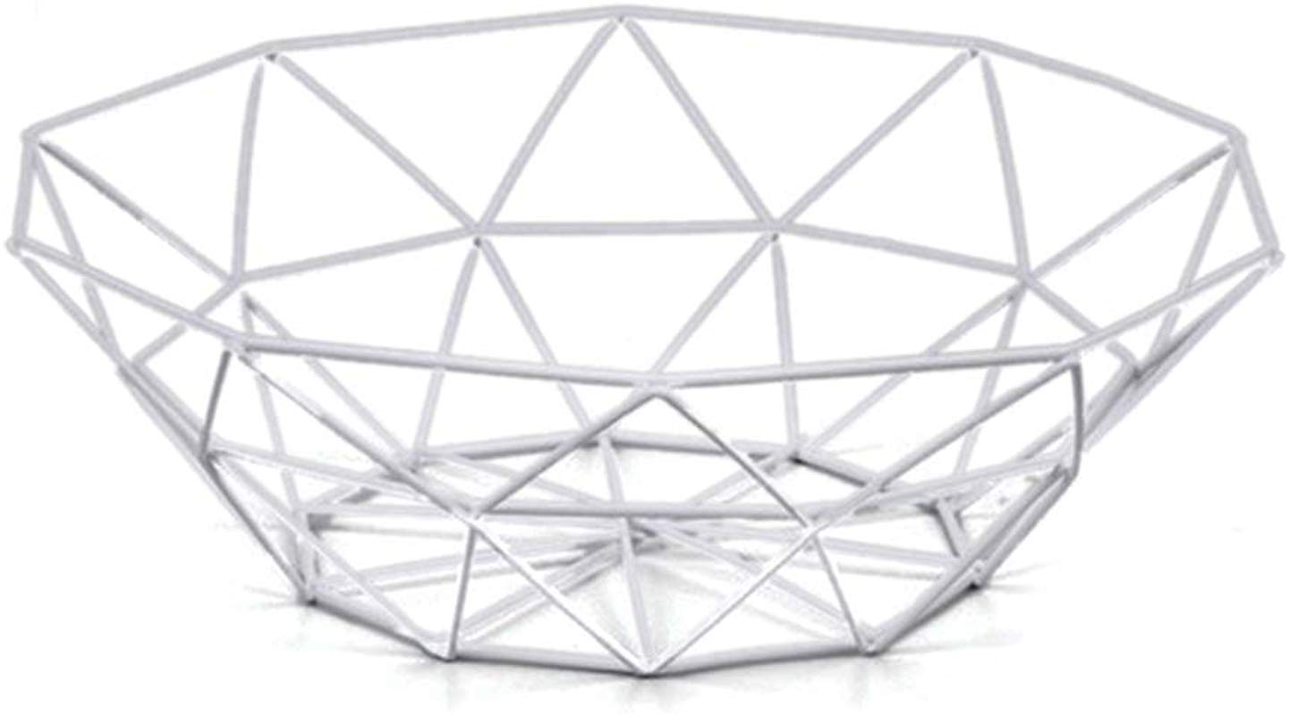 Wire Fruit Basket Buery Round Metal Fruit Basket Table Decorative Centerpiece Holder Large Countertop Fruit Bowl For Fruit Vegetable Bread Candy And Other Household Items 10 Inch White Small