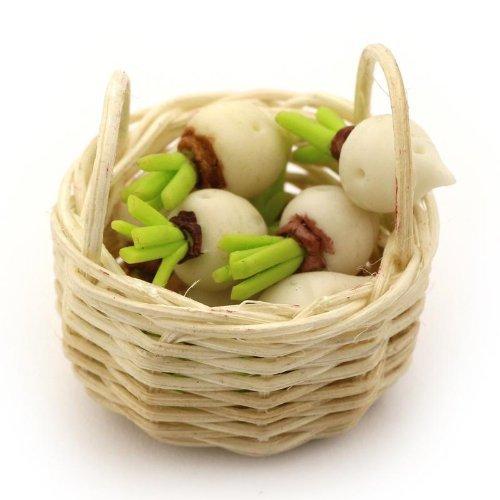 MyTinyWorld Maison de Poupées Miniature Panier de Fait Main Turnips
