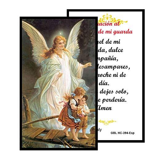 Oracion al Angel de La Guarda Tarjeta de Rezo Importada de Italia y Bendecida por Su Santidad